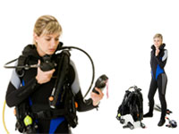 Full Set Of Professional Scuba Diving Equipment