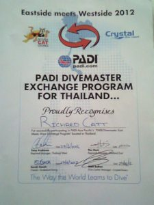 Scuba Cat Diving PADI 5 * CDC Phuket Thailand  Divemaster Exchange